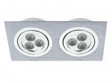 Свет-к встраиваемый TRIO модульный шерох алюм