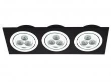 Свет-к встраиваемый TRIO модульный шерох чёрн